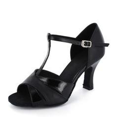 Women's Satin Leatherette Heels Latin Dance Shoes