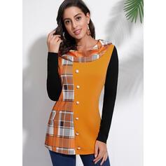 Blocchi di colore Girocollo Maniche lunghe Casuale Camicie