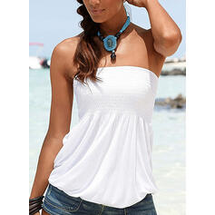 Solid Lace Sleeveless Casual Sexy Tank Tops