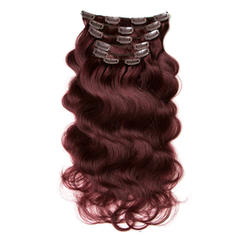 4A Non remy Body Human Hair Clip in Hair Extensions 7pcs 70g