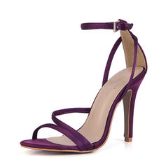 Women's Plastics Stiletto Heel Sandals Pumps Peep Toe With Buckle shoes