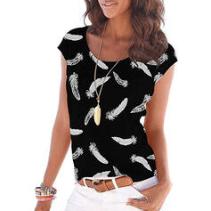 Print Ronde Hals Korte Mouwen Casual T-shirts