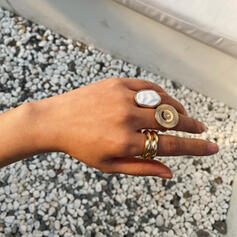 Fashionable Cool Alloy With Imitation Stones Rings (Set of 3)