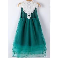 Kızlar Yuvarlak boyun Katı inciler gündelik Sevimli Elbise