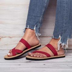Mulheres Tecido Sem salto Sandálias Sem salto com Outros sapatos