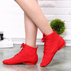 Women's Jazz Boots Canvas With Lace-up Jazz