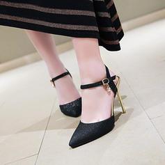 Vrouwen Kunstleer Stiletto Heel Sandalen Pumps Closed Toe Slingbacks met Gesp schoenen