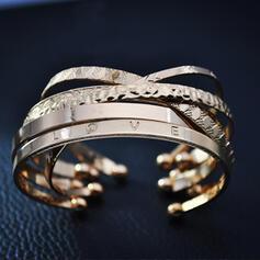 Fashionable Gold Plated Bracelets (Set of 2)