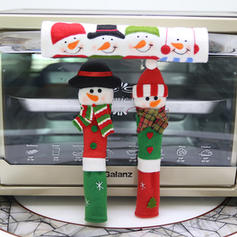 Merry Christmas Snowman Cloth Christmas Décor Fridge Handle Cover (Set of 3)