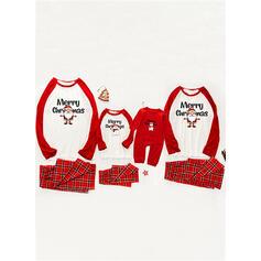Santa claus Tela escocesa Carta Impresión Familia a juego Pijamas De Navidad