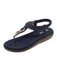 Women's Leatherette Wedge Heel Sandals Peep Toe Slingbacks With Buckle shoes