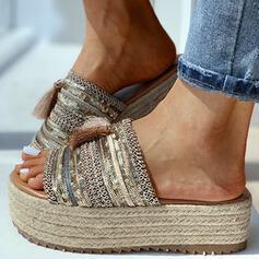 Femmes PU Talon plat avec Paillette chaussures