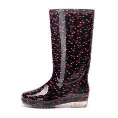Vrouwen PVC Low Heel Laarzen Knie Lengte Laarzen Regenlaarzen met Anderen schoenen