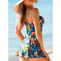 Floral Strap Sexy Elegant Bohemian Tankinis Swimsuits