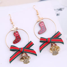 Lovely Cloth Alloy Earrings Christmas Jewelry