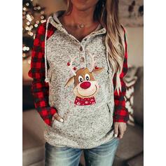 Dierenprint rooster Zakken Lange Mouwen Kerst Sweatshirt