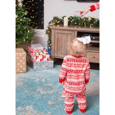 Renne Striped Inmprimé Tenue Familiale Assortie Pyjama De Noël