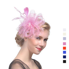 Ladies ' Smukke Kambriske med Fjer Fascinators/Tea Party Hats