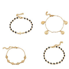 Liga Conjuntos de jóias Pulseiras (Conjunto de 4)