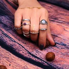 Gorgeous Alloy Resin Ladies' Fashion Rings (Set of 5)