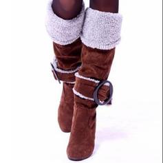 ПУ Квадратні підбори Черевики вище колін Чоботи для верхової їзди з Пряжка взуття