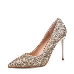 Vrouwen Sprankelende Glitter Stiletto Heel Pumps Closed Toe schoenen