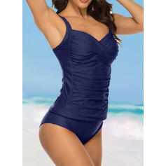Backless Cross Strap V-Neck Sexy Elegant Classic Tankinis Swimsuits