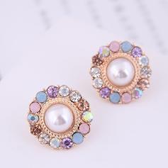 Con estilo Aleación Diamantes de imitación De mujer Pendientes