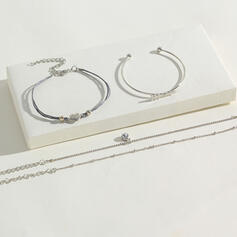 Liga Conjuntos de jóias Pulseiras (Conjunto de 4 pares)