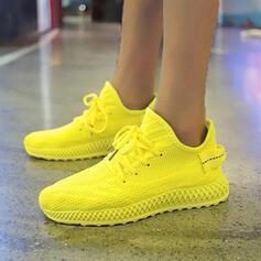 Mulheres Pano Malha Outdoor Atlético com Aplicação de renda sapatos