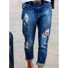 Froncé Grande taille Déchiré Décontractée Tribal Jeans