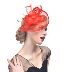Dames Beau Batiste avec Feather Chapeaux de type fascinator/Chapeaux Tea Party