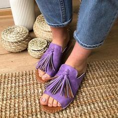 Donna PU Senza tacco Ciabatte con Nappa scarpe