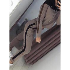 Com Capuz Manga Comprida Impressão Attractive Conjuntos de calças e tops