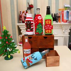 boldog Karácsonyt Örgü Üveg fedél