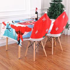 Boże Narodzenie Chaircover Tkanina Dekoracje świąteczne