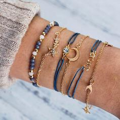 Charming Infinity Fancy Artistic Layered Alloy With Moon Bracelets 6 PCS