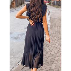Sólido Sin mangas Acampanado Hasta la Rodilla Casual/Elegante Vestidos
