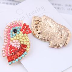 Дизайн тваринки Сплав Стрази з Сіяючі камені Сережки