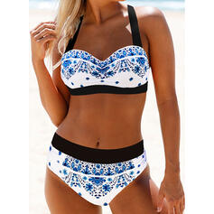Imprimé Dos Nu Sexy Grande taille Bikinis Maillots De Bain