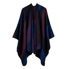 Color Block/Retro /Årgang Oversized/attraktiv/Koldt vejr Wraps