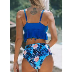 Floral Strapless Beautiful Attractive Bikinis Swimsuits