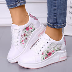 Women's Lace PU Casual Outdoor Athletic With Lace-up shoes