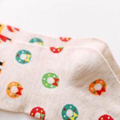 Femei Craciun Fericit Om de zapada Ren Moș Crăciun Cotton Ştrampi Șosete de Crăciun