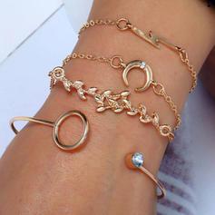 Leaves Shaped Alloy Women's Fashion Bracelets (Set of 4)