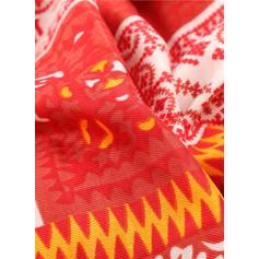 Geometric Print Oversized/fashion Scarf