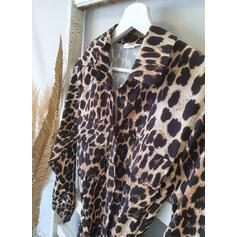 luipaard Lange Mouwen A-lijn Shirt/Schaatser Casual Medium Jurken