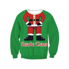 Poliéster Impressão Camisola de Natal
