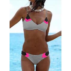 Low Waist Strap V-Neck Sexy Bikinis Swimsuits