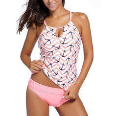 Stripe Halter Beautiful Tankinis Swimsuits